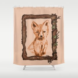 Young Fox Shower Curtain