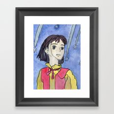 Find me in the future. Framed Art Print