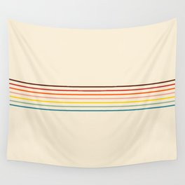 Colorful Fine Line Retro Stripes Wall Tapestry