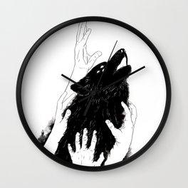 Wolves of Paris Wall Clock