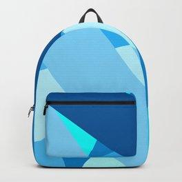 Retro Blue Mid-Century Minimalist Geometric Line Abstract Art Backpack