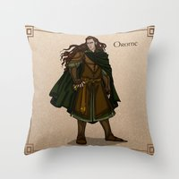 valar morghulis Throw Pillows featuring Orome by wolfanita