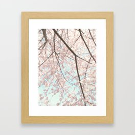Vintage pink tree Framed Art Print