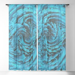 Alchemy 002 - Blue Sheer Curtain