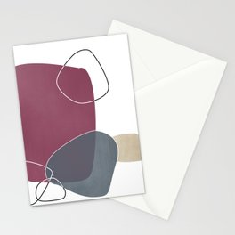Abstract Glimpses in Mulberry and Peninsula Blue Stationery Cards