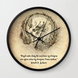 Dragon Quote Wall Clock