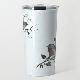 Winter king and Robin companions Travel Mug