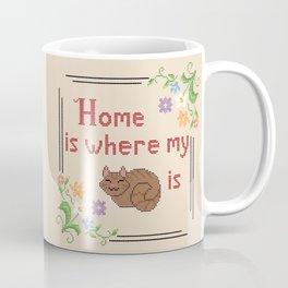 Home is Where my Cat is Coffee Mug