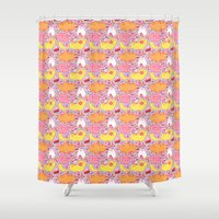 kit king Shower Curtains featuring Kit Kats by Diem Vu
