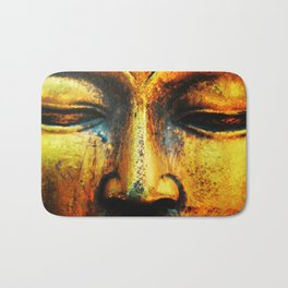 Golden Statue of the Buddha Bath Mat
