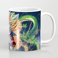 dbz Mugs featuring DBZ - Goku by Mr. Stonebanks