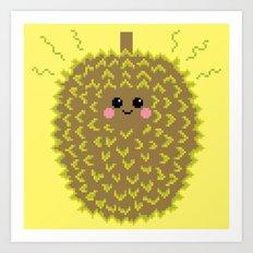 Happy Pixel Durian Art Print