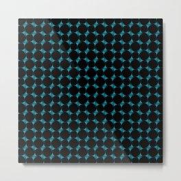 3-Dimensional Blue Circles Metal Print