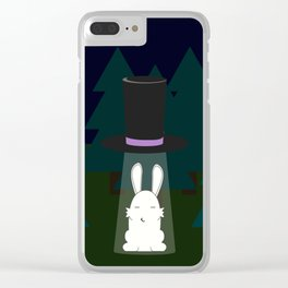 The abduction of Mr. Rabbitson Clear iPhone Case