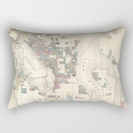 Seattle 1890 Rectangular Pillow