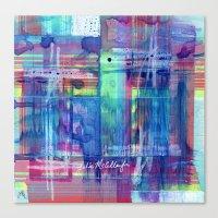 plaid Canvas Prints featuring Plaid by Julie M Studios