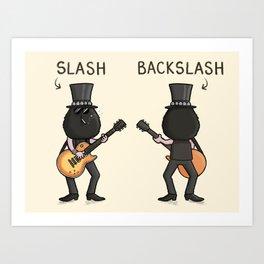 Slash / Back Slash Art Print