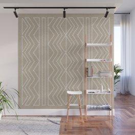 Cream Linen Beige Arrows Pattern Wall Mural