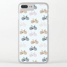 Bike pattern Clear iPhone Case