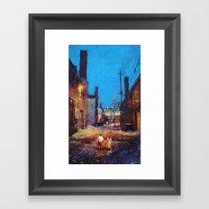 Lovers of the night Framed Art Print