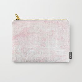 Pink Rose Gold Marble Print Carry-All Pouch