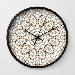 Multi-colored ornament 19 Wall Clock