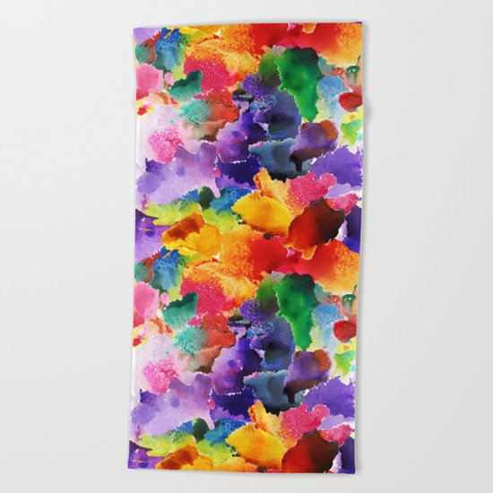 Floral Pattern 13 Beach Towel