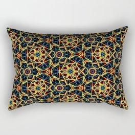 Beadwork Inspired Pattern Rectangular Pillow