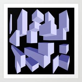3D Blue Art Print