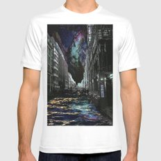 TRANSITIONS White Mens Fitted Tee MEDIUM
