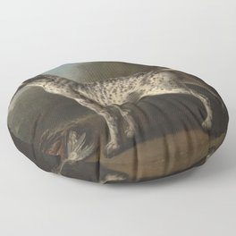 A Grey Spotted Hound by John Wootton Floor Pillow