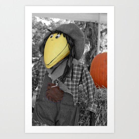 fun crow Art Print