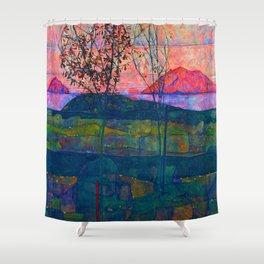 Egon Schiele Setting Sun Shower Curtain