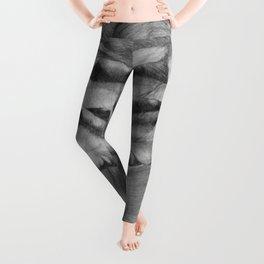 OPEN UP IN BLACK & WHITE Leggings