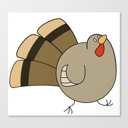 Chubby Turkey Canvas Print