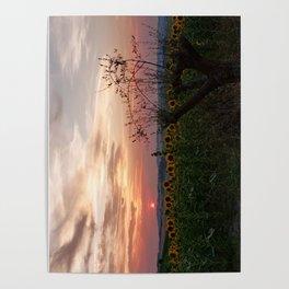 Sunrise from Morro d'Alba, Italy Poster