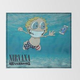 Nevermind Throw Blanket