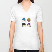 gorillaz V-neck T-shirts featuring Famous Capsules - Gorillaz by Greg-guillemin