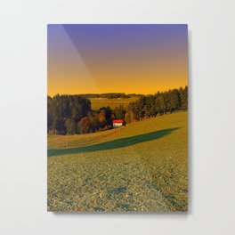 Beautiful sundown in the countryside | landscape photography Metal Print