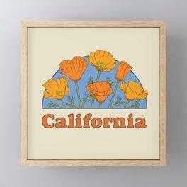 California Poppies Framed Mini Art Print