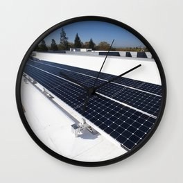 Construction of the new NASA Ames Green Building dubbed Sustainability Base located on the Ames Rese Wall Clock