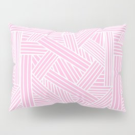 Sketchy Abstract (White & Pink Pattern) Pillow Sham