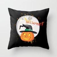 Halloween's pumpkin Throw Pillow