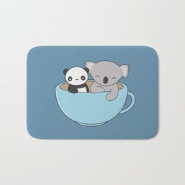 Kawaii Cute Koala and Panda Bath Mat