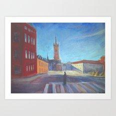 Stockholm Cityscape Art Print