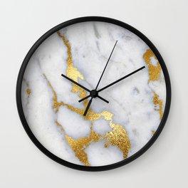 Italian gold marble II Wall Clock