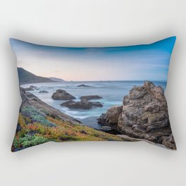 Coastline - The Beauty of Big Sur at Sunrise Rectangular Pillow