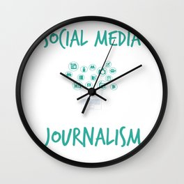 Social Media Can Wait Time For Journalism Wall Clock