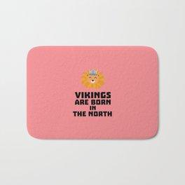 Vikings are born in the North T-Shirt D08u5 Bath Mat