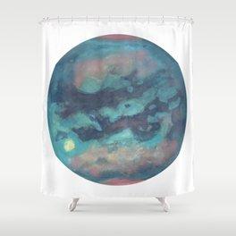 Titan Mermaid Moon of Saturn {vivid version} Shower Curtain
